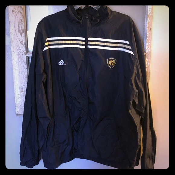4a7905717f84 adidas Other - MENS Adidas Notre Dame Windbreaker (Navy Blue) XL
